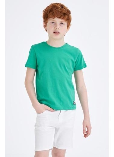 DeFacto Erkek Çocuk Basic Tişört Yeşil